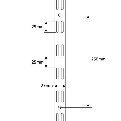 Twin slot uprights